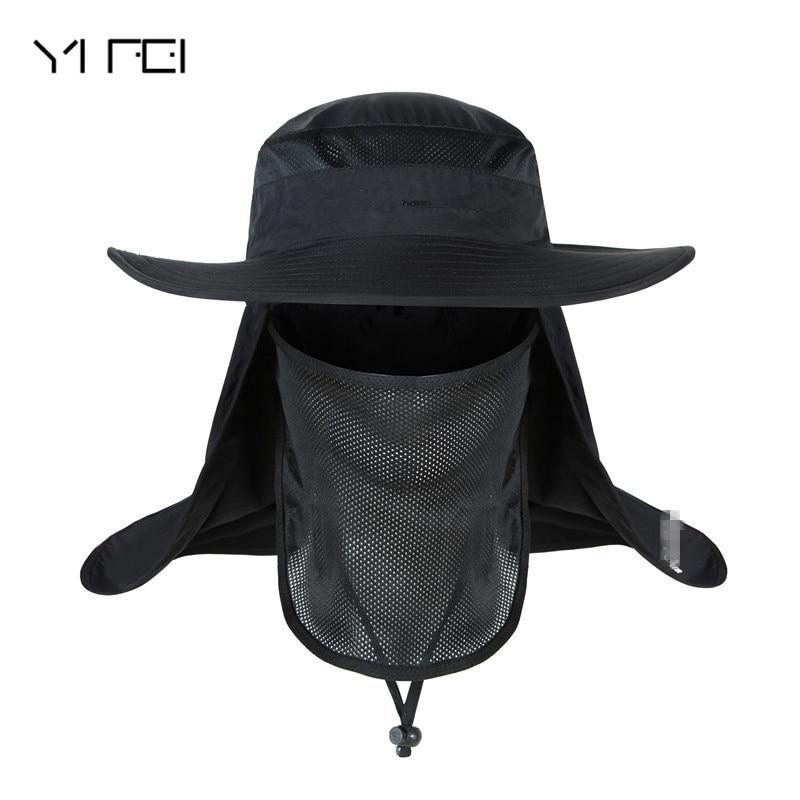 YIFEI Waterproof Big Bucket Hats with a wide brim New Summer wind-proof Sun Hat SPF 30+ UV Protection Fishing Hat Fisherman Cap