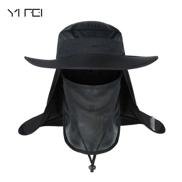5a828991ffec0 YIFEI Waterproof Big Bucket Hats with a wide brim New Summer wind-proof Sun  Hat SPF 30+ UV Protection Fishing Hat Fisherman Cap