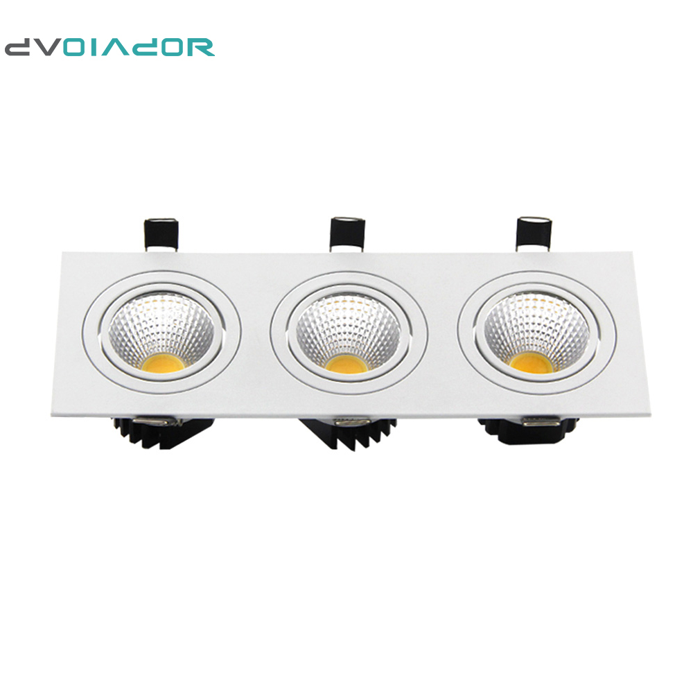 DVOLADOR Super Bright Recessed led Downlight+Driver 15W 21W 30W 36W 3 Head Dimmable led Ceiling lamp indoor Decoration Lighting|led downlight|recessed led downlightrecessed led - title=