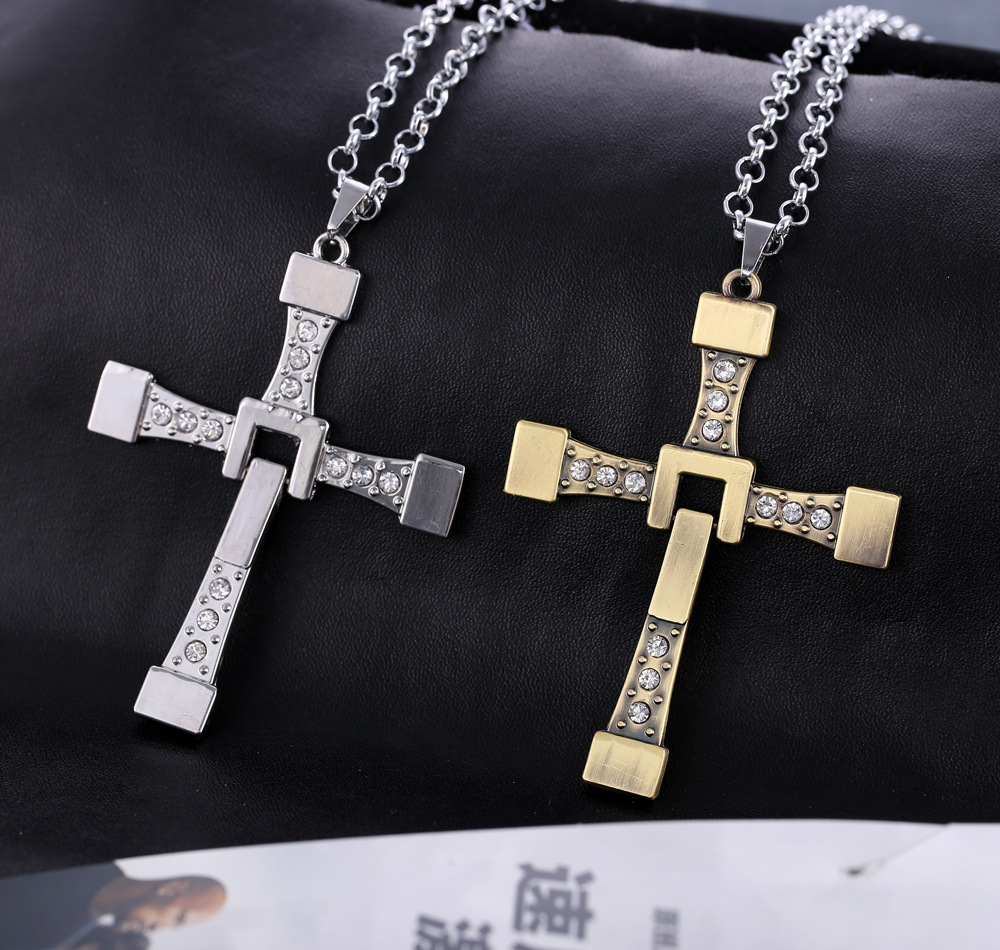 Vin Diesel Cross Necklace: Fast And Furious 6 Hard Gas Actor Dominic Toretto / Vin
