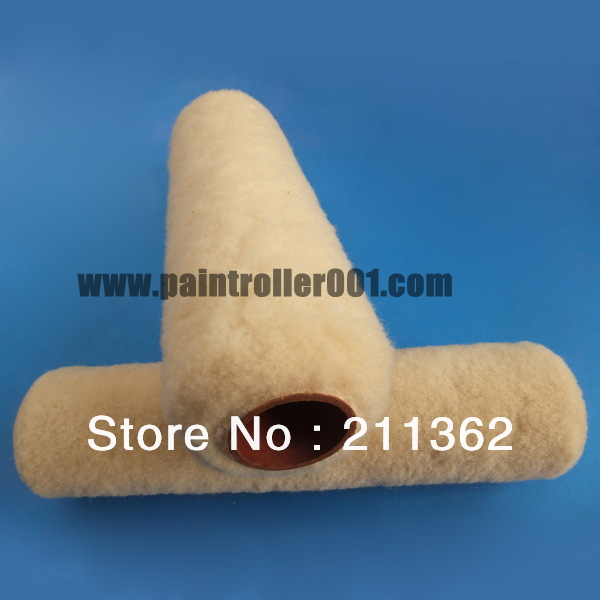 270mm sheepskin paint roller cover, diameter 38mm, nap 14mm, wire cage - Tina Paint Roller Company store