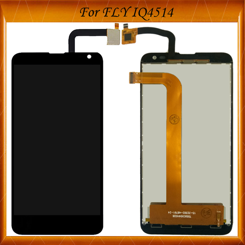 Top Quality For Fly IQ4514 EVO Tech 4 Quad LCD Display For FLY IQ4514 LCD Screen With Touch Assembly IN Stock