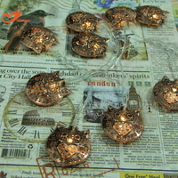 Smile Owl Lights Coppery Metal Decoration Party Fairy Light String Lighting 10 Warm White LED Festoon
