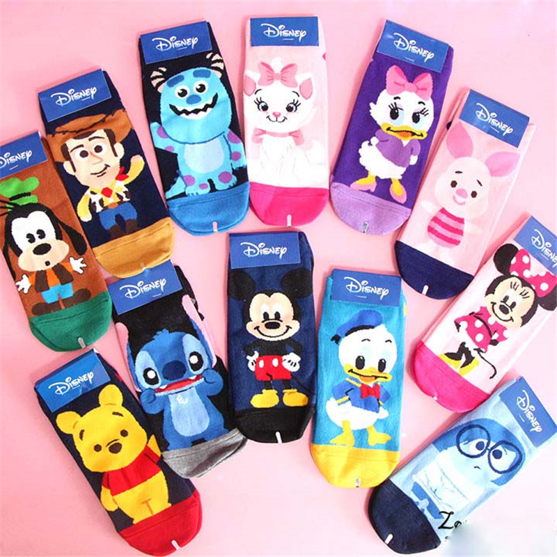 aristocat cartoon   socks   stitch sox kawaii cute style cat mouse 15 pairs/lot