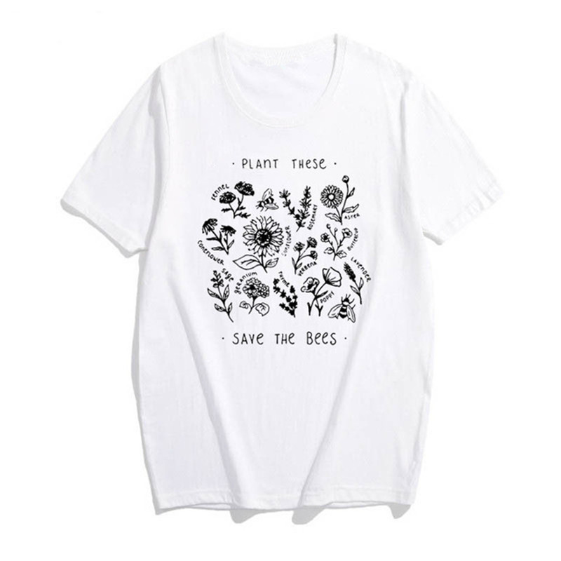 Bee Kind Pocket Print Tshirt Women Save The Bees Graphic Tees Girls Summer Tumblr Outfit Fashion Top 9