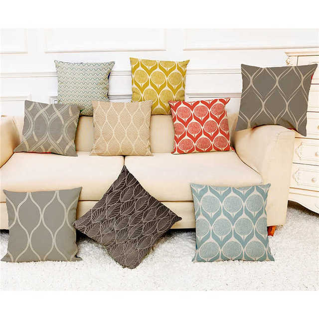 الملونة نمط سادات غطاء سوبر لينة النسيج وسادة المنزل بسيطة هندسية رمي الفراش غطاء وسادة يغطي