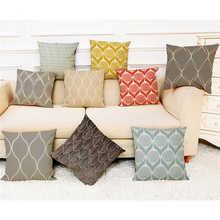 Motif coloré taies doreiller couverture Super doux tissu maison coussin Simple géométrique jeter literie taie doreiller couvre
