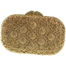 Mini Größe Silber Box Clutch Bag Kristalle Verschönerung Gold Abendtaschen Verkauf mit Schulter Kette Clutch Geldbörse für Braut Hochzeit