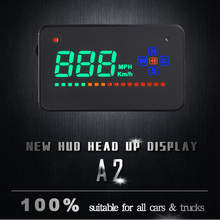 3.5 inch Car Hud Head Up Display Digital GPS Speedometer Overspeed Car Alarm Auto Windshield Projector Car Electronics autool x30 hud obd 2 head up display car gps speedometer headup obd2 projector headup smart digital auto universal display meter