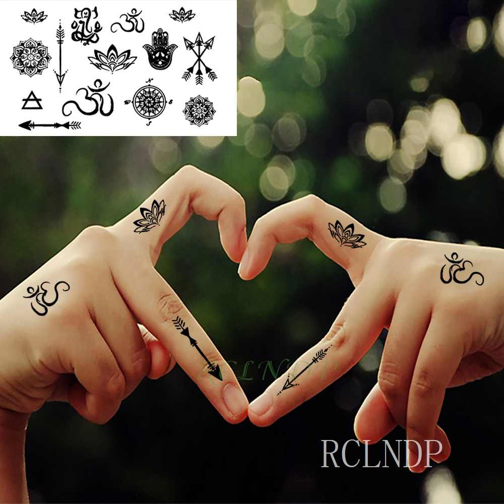 d17de9a32 ... Waterproof Temporary Tattoo Sticker sun Moon Fake Tatto Flash Tatoo  Tatouage Wrist Foot Hand Arm For