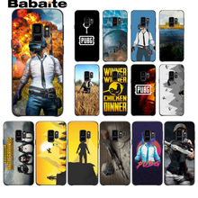PUBG Colorful Cute Phone Accessories Case For Samsung Galaxy s8 s9 plus note 8 note9 s7 s6edge cover Babaite