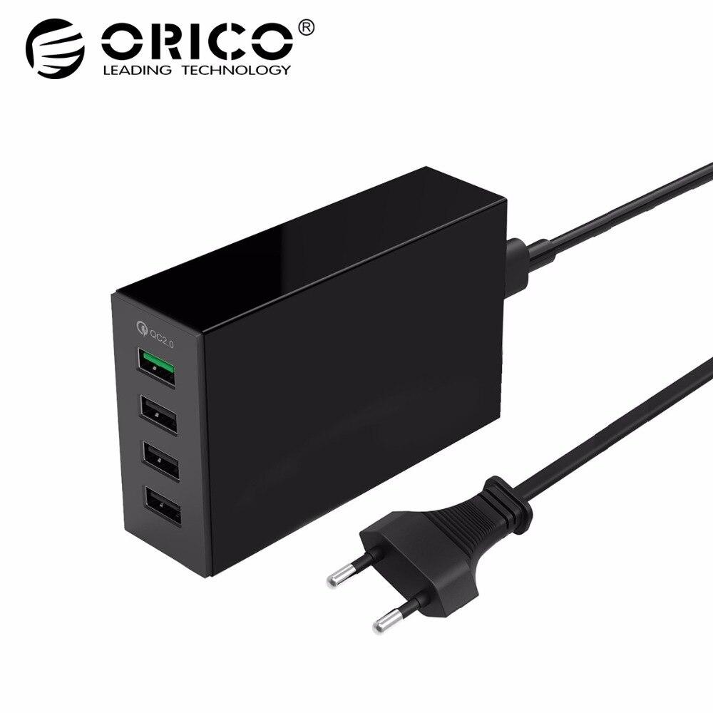 ORICO QSL-4U QC 2.0 Rapide Chargeur QC2.0 * 1 5V2. 4A * 3 Max Sortie 4 Ports USB Chargeur De Bureau Pour Samsung Xiaomi Huawei