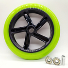 free shipping scooter wheel 200 mm PU high quality wheel thickness 34 mm ABEC-7 bearing