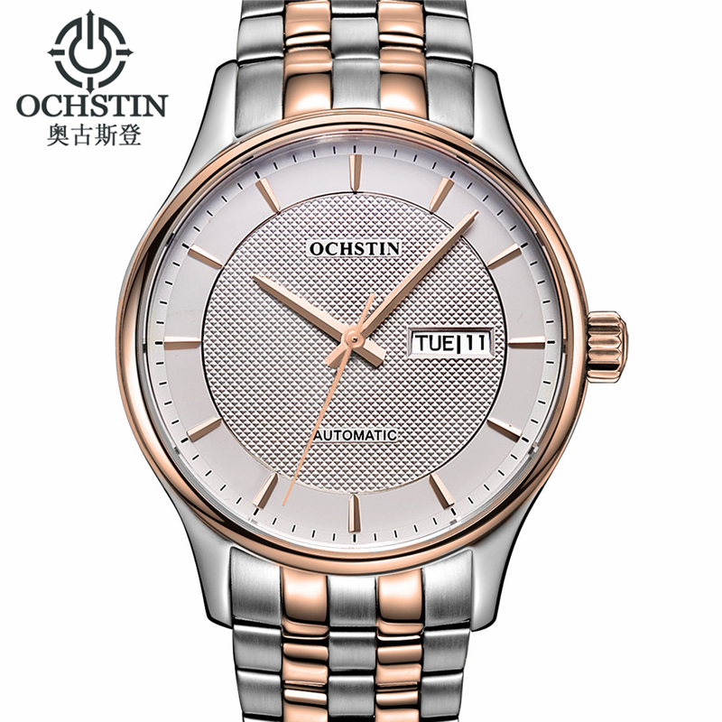 купить Ochstin Mechanical Watches Men Date Day Wristwatch Man Watches Luxury Fashion Casual Women's Wrist Watch Relogio Masculino A по цене 5277.39 рублей