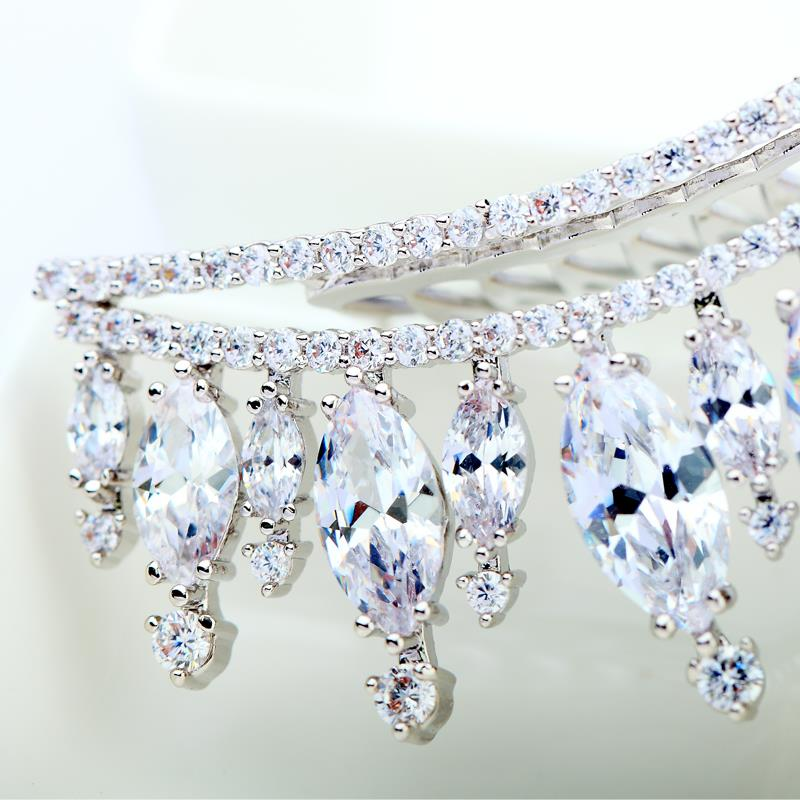 Luoteemi Fashion Latest Design Fancy Beauty Shiny Cz Crystal Bridal