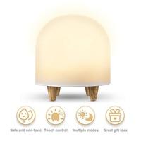 Baby LED Night Light For Kids Portable Silicone Cute Nursery Night Lamp Romantic Dim Mood Lamp