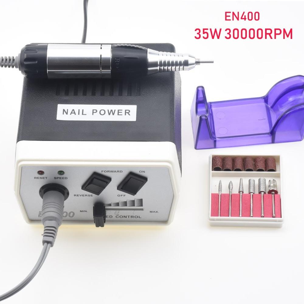 35 W 40000 RPM Électrique coupe-ongles Machine Manucure Pédicure Fichiers Outils Kit polisseuse à ongles Broyage Machine à vitrage Pour Gel Polish - 5