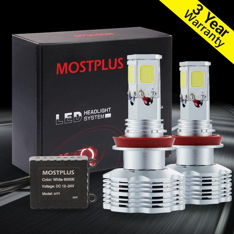 ФОТО MOSTPLUS 120W 12000lm COB LED Headlight Kit H8 H9 H11 low beam HID 6000K Bulbs