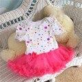 Polka Dots Body Mameluco Del Cordón Del Bebé Vestido Tutú Roupas de Bebe Recién Nacido Mameluco Del Bebé Del Mono de Los Niños Ropa de bebé Ropa Infantil, 0-12 M