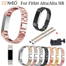 Stainless Steel Bracelet Watch band For Fitbit Alta/Alta HR adjustable Wristband for Alta Watches straps Accessories