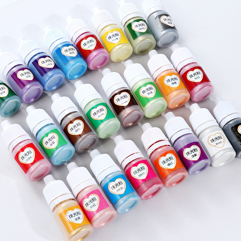 1box 24 Colours 5ml Pearlescent Pigment Dye powder for UV