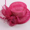 Sinamay Fascinator Veil Hat Wedding Hats And Fascinators Hair Accessories Chapeu Acessorios Para Festa Capelli WIGO0662