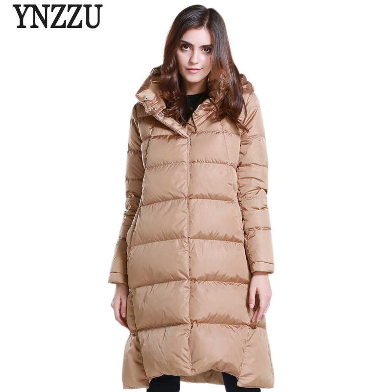 2017 New Fashion Winter Women Down Coat Jackets Red Stand Collar Thick Warm Hooded High Quality Female Winter Long Outwear AO245