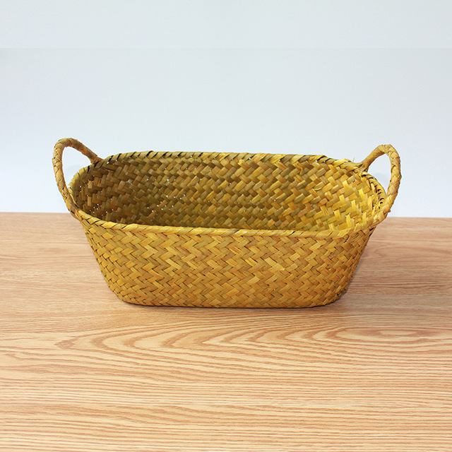 Guangzhou IEE Mat Grass Storage Straw Storage Basket Hand Woven  Environmental Boxes Storage Container Makeup