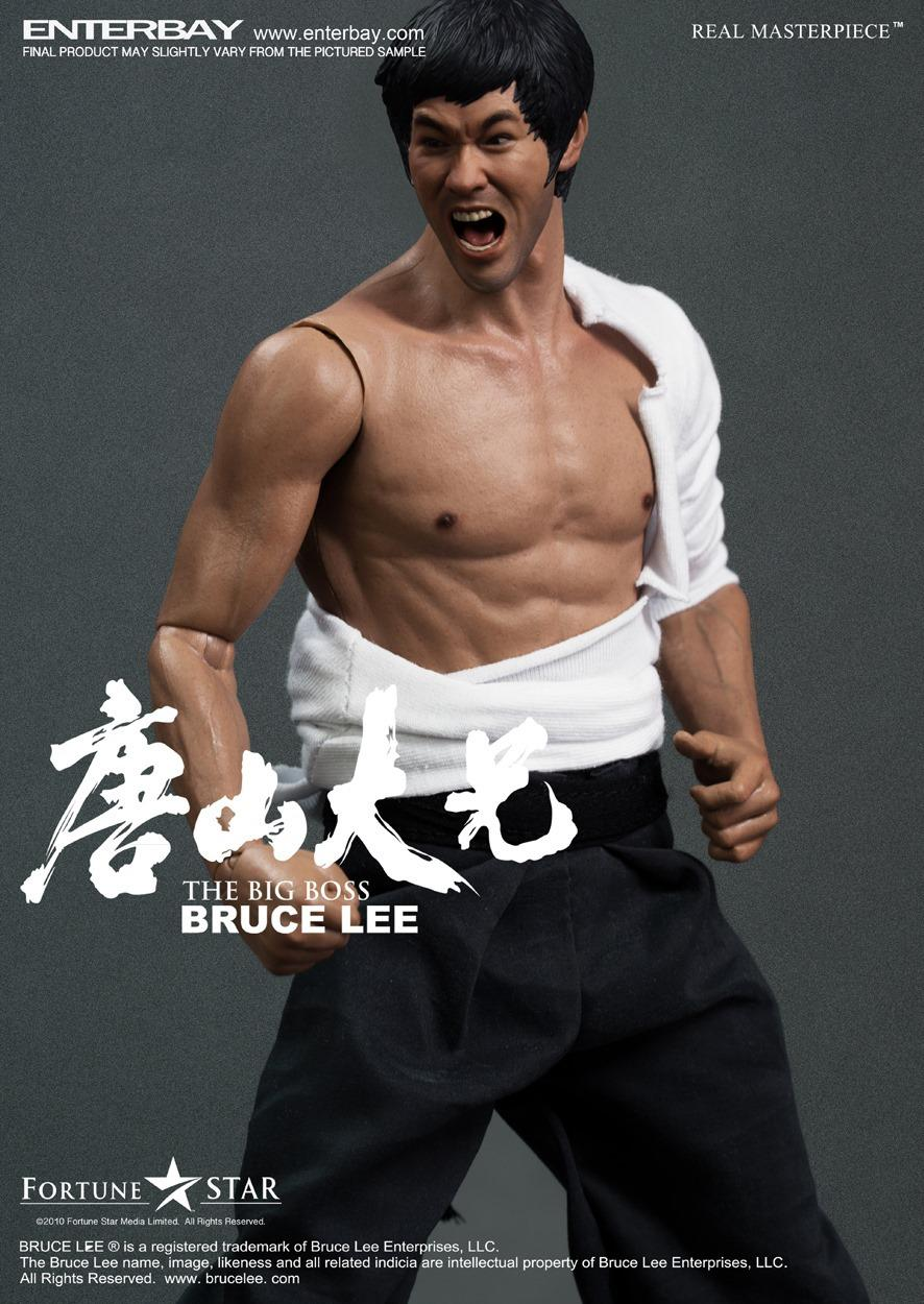 "Enterbay 1/6 scale doll modle 12 inch"" Action figure doll,bruce lee The Big Boss,Collection model toys"""