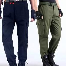 цена на Working pants men multi pockets work cargo pants large size loose style Male labor trousers wear-resistance welding repairman