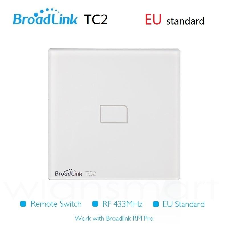 2016 New Broadlink TC2 EU Standard 1Gang Smart  Home RF switch, Automation Phone Remote wireles control lamps light wall switch