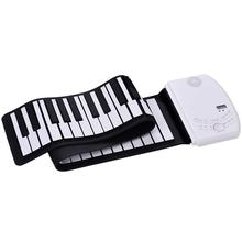 лучшая цена 88 Keys Roll Up Piano Electronic Piano Keyboard Built-in Loud Speaker Recharge Battery Standard Piano Tone