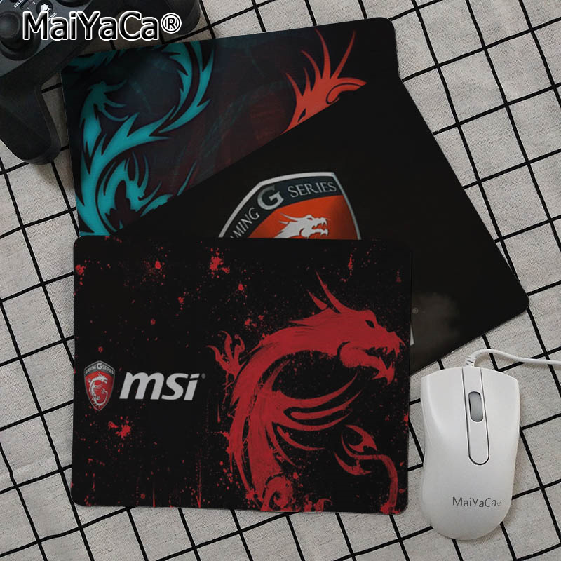 MaiYaCa Funny MSI Logo  Customized Laptop Gaming Mouse Pad Smooth Writing Pad Desktops Mate Gaming Mouse Pad