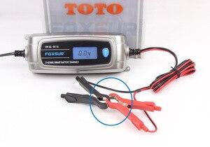 Image 5 - FOXSUR 6 V 12 V 11 stage Auto Acculader Lood zuur Oplaadbare Batterij Automatische Intelligente Puls Lader met lcd scherm
