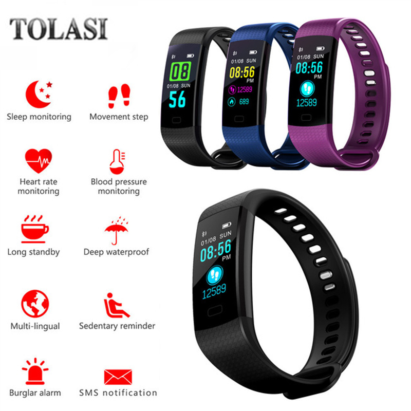 Outdoor Swim Smart Watch Blood Pressure Heart Rate Monitor Health Smartwatch App Run For Apple Xiaomi Huawei PK Fenix 5/Fit 3 uwatch new smart watch heart rate monitor waterproof hot christmas gifts for xiaomi huawei iphone 5 5s 6 6s pk