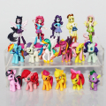 17pcs/set minecraft rainbow Dash horse model PVC Action Figure toys poni girl dolls For Children Christmas Gift