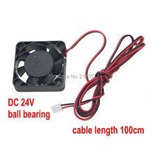 5 PCS Gdstime for 3D Printer Fan 40mm 24V Ball Bearing Brushless DC Cooling Cooler 40x40x10mm цена и фото