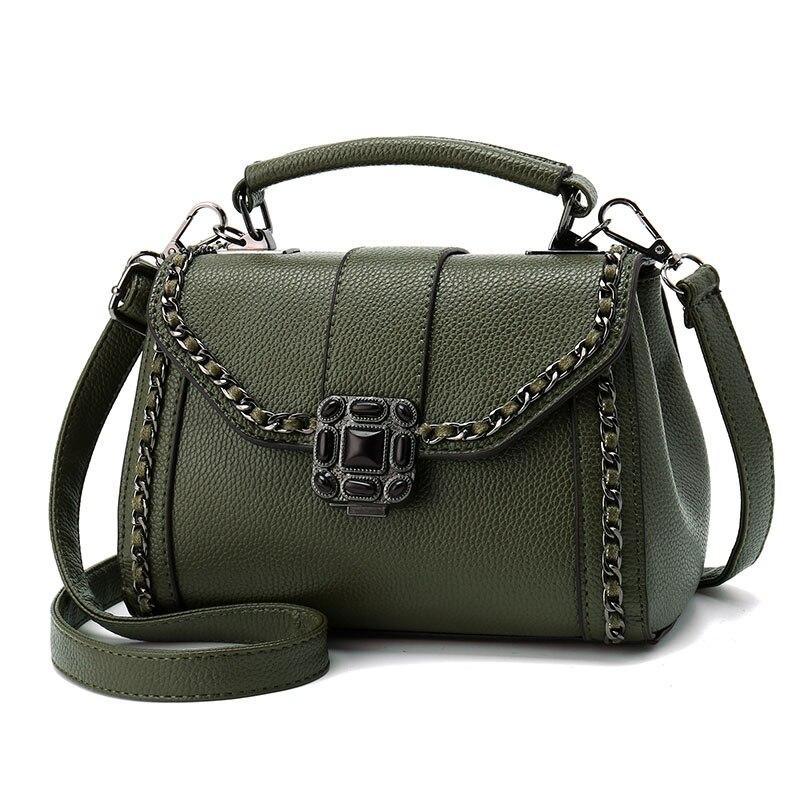 Women Leather Bow Handbags 2017 Fashion Vintage Messenger Shoulder Bag bolsas Br