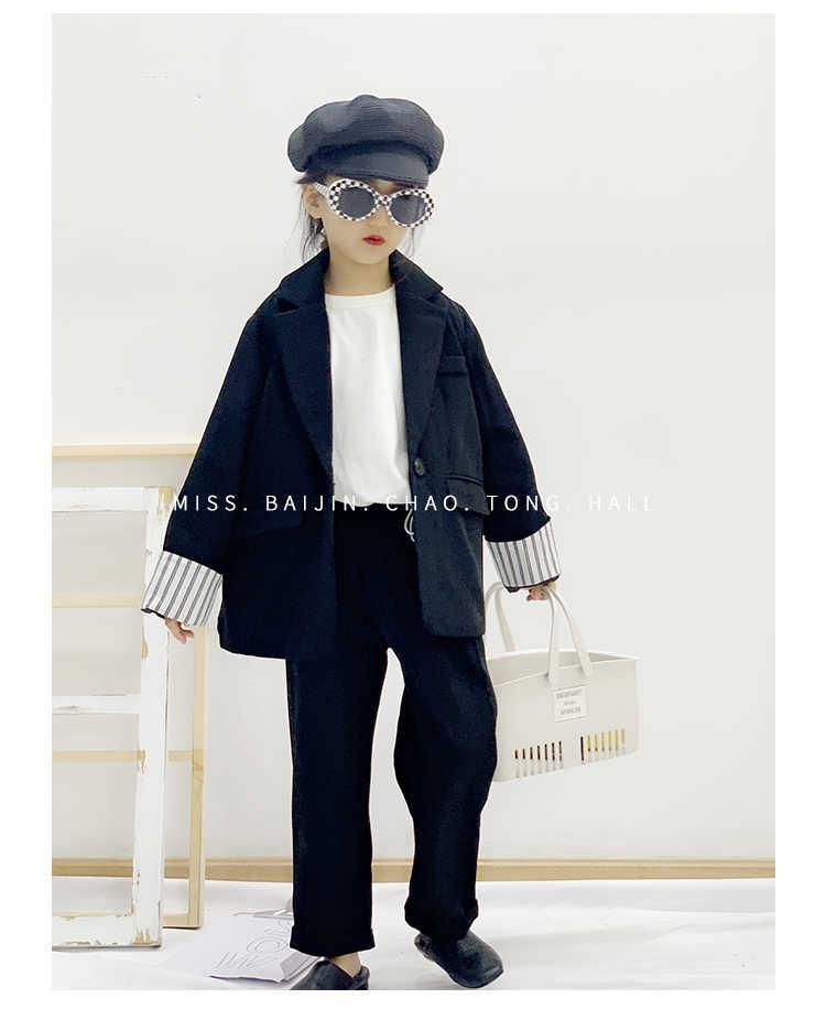 ВЕСНА Новинка осени brazeris, пальто для маленьких девочек детская одежда Длинные рукава в полоску верхняя одежда с печворк Подростковые куртки топы От 3 до 12 лет ws905