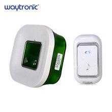 220V su geçirmez kablosuz elektrikli Ding Dong kapı zili sıcaklık dijital ekran büyük kapı zili düğmesi