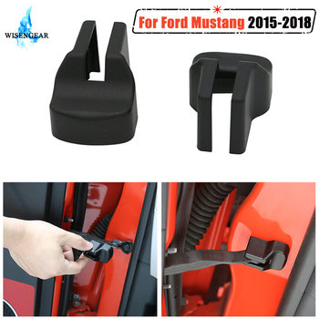 2x Car Door Stopper Buckle Stop Cap Rust Protector Cover Door Check Arm Protection Covers For Ford Mustang 2015-2018 WISENGEAR / image