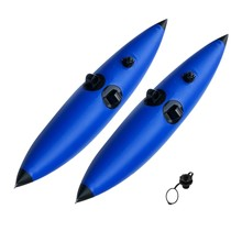 2Pcs Inflatable Kayak Buoy Outdoor Boat Floating Booster Canoe Boat Floating Standing Buoy Fishing Beginner Kayak Standing Aid(China)