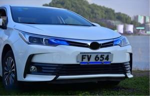 Image 4 - Car Styling dla Corolla reflektor altis 2017 ~ 2019/2014 ~ 2015 rok LED DRL ukryta żarówka soczewki biksenonowe wysoka martwa wiązka Parking lampa przeciwmgielna