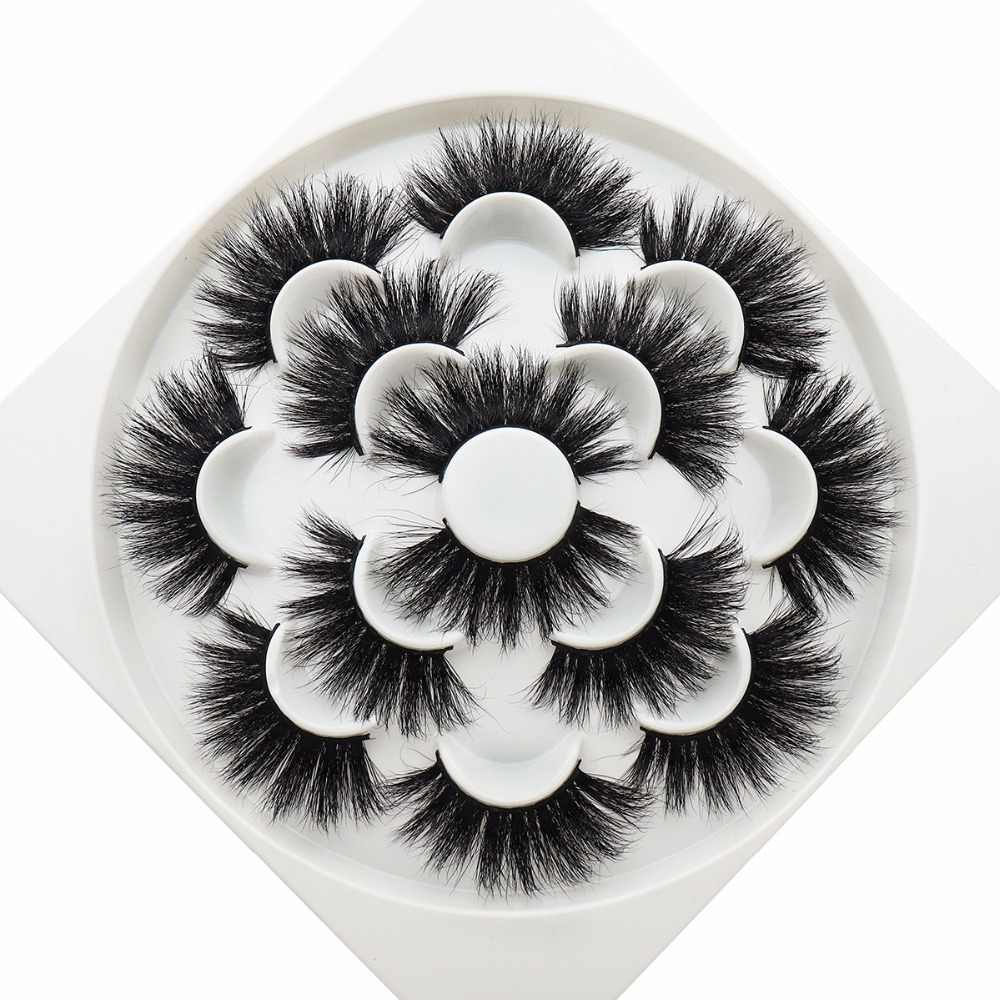 7 пар 25 мм норковые ресницы 3D норковые накладные ресницы долговечные ресницы натуральные мягкие норковые ресницы ручные инструменты для макияжа