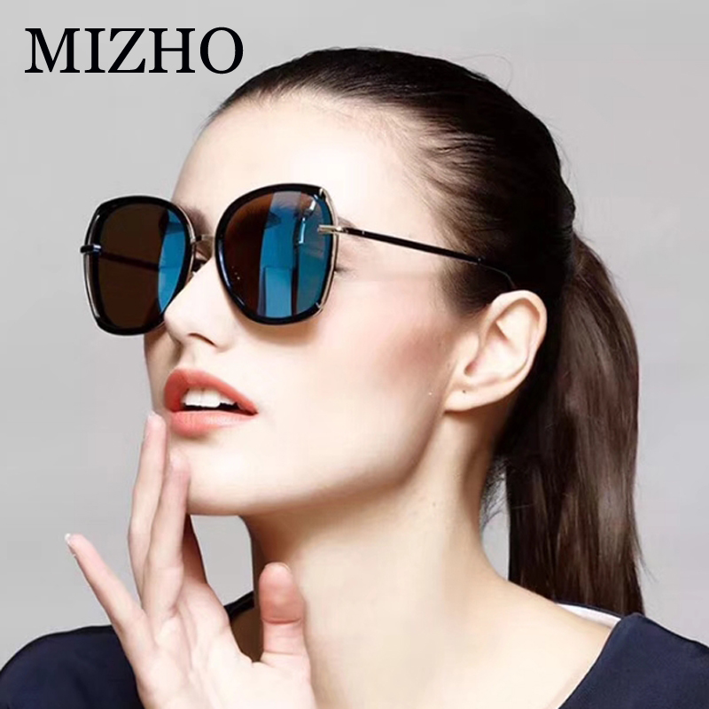 38b3418e20f MIZHO Luxury Shine Tinted Polarized Sunglasses For Women UV400 Party Summer  Fashion Transparent Design Female Glasses
