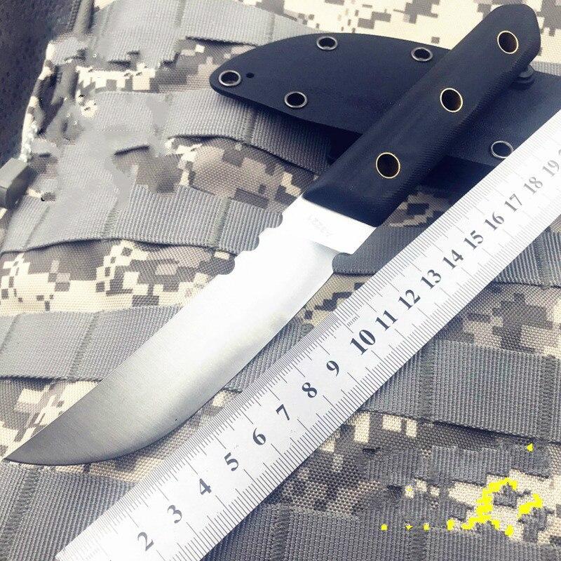 [59HRC A3221] couteau à lame fixe Bushcraft survie couteau droit tactique chasse Camping fait à la main de haute qualité EDC outil