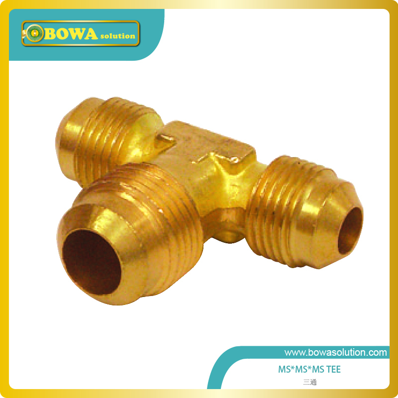все цены на Good quality Brass Tee 3/8 x 1/4 x 3/8 for refrigeration unit онлайн