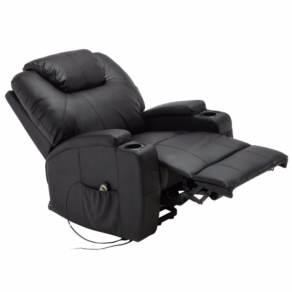 Giantex Electric Lift Power Recliner Chair Heated Massage Sofa Lounge with Remote Control Sofa Chairs Modern Recliner HW53991 chair