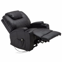 Giantex Electric Lift Power Recliner Chair Heated Massage Sofa Lounge With Remote Control Sofa Chairs Modern