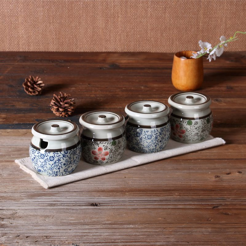 Aliexpress.com : Buy Sugar Bowl Creative Cooking Pots Ceramic Sugar Pot  Porcelain Kitchen Storage Jar Cooking Condiment Japanese Style Four  Patterns From ...